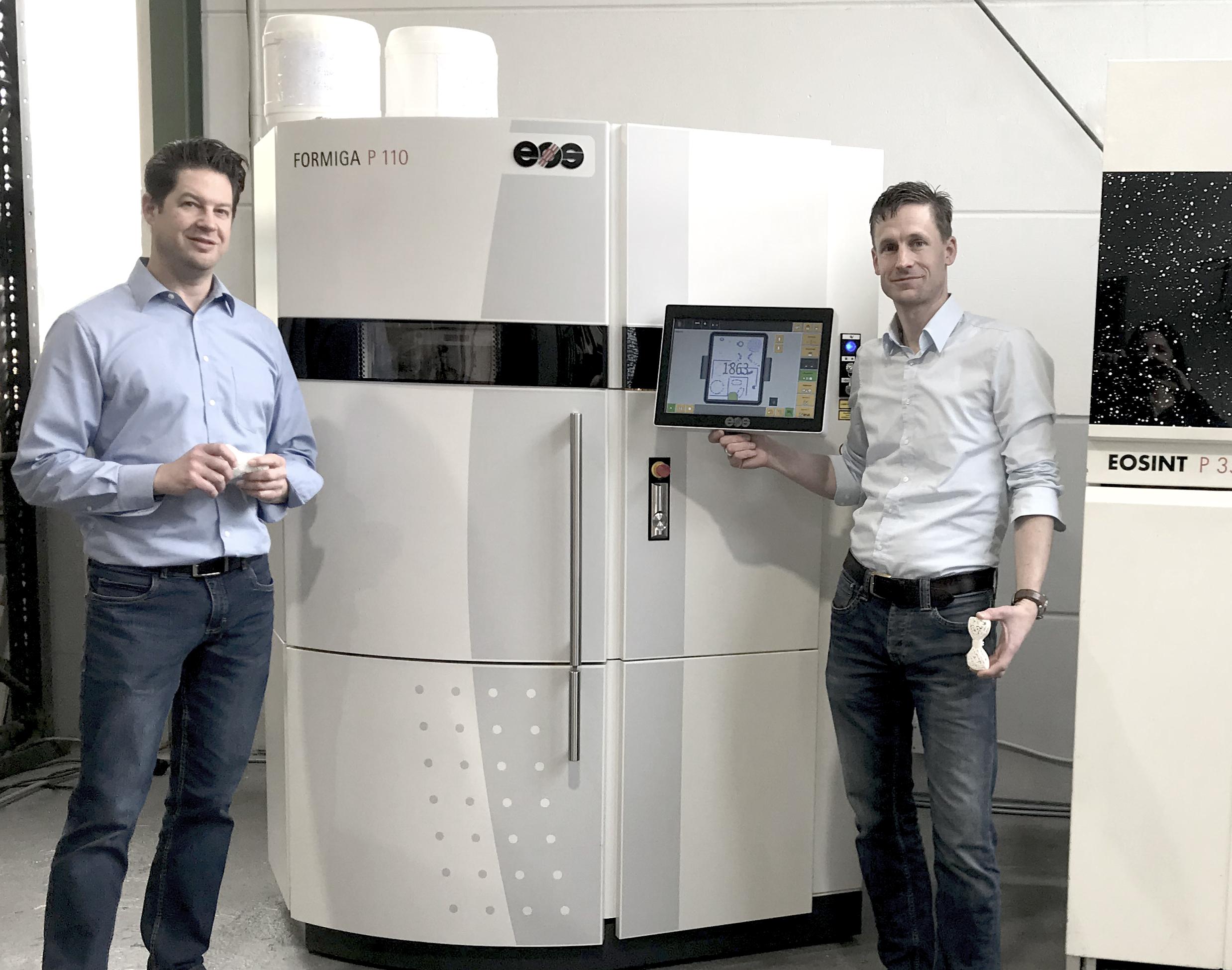 Neue SLS Anlage, CAD Bauteile 3D Drucken, Serienfertigung von SLS Bauteilen, EOS Formiga P110